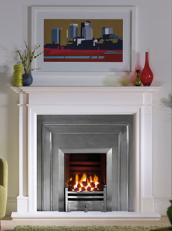 Kensington with extraction gas fire