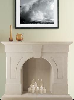 Clearwell Bath Stone Fireplace