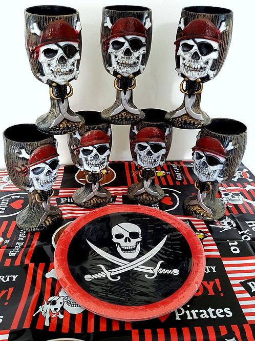 Piraten eet pakket