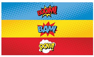 waterfles label superhelden feest - thema kinderfeestjes thuis - themakisten