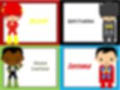 superheden labels feest - theme kinderfeestjes thuis - themakisten
