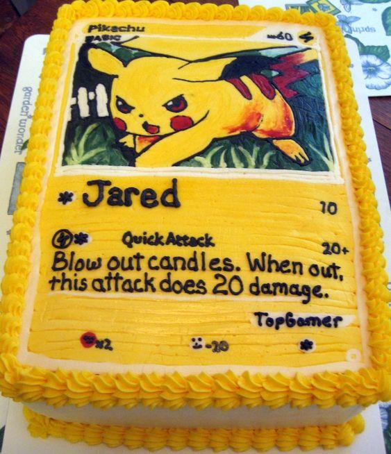 pokemon kaart pikachu taart