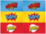 superhelden label feest - theme kinderfeestjes thuis - themakisten