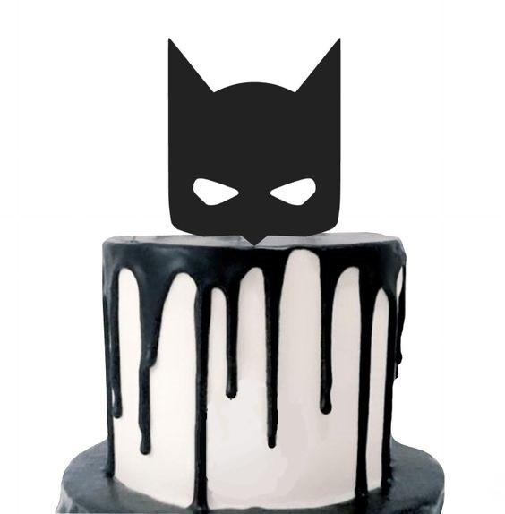 batman taart superhelden feestje thuis themakist