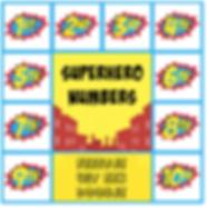 superhelden cijfers superhelden feest thema kinderfeestjes thuis - themakisten