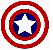 logo captain amerika superhelden feest- theme kinderfeestjes thuis - themakisten