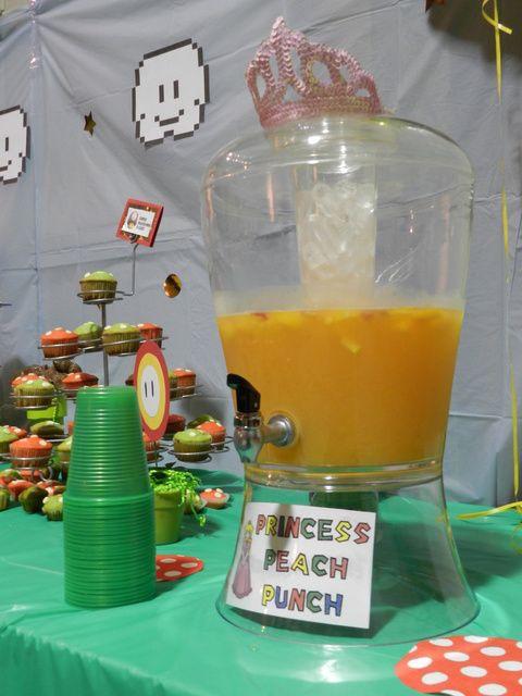 Princess peach punch super mario kinderfeestje