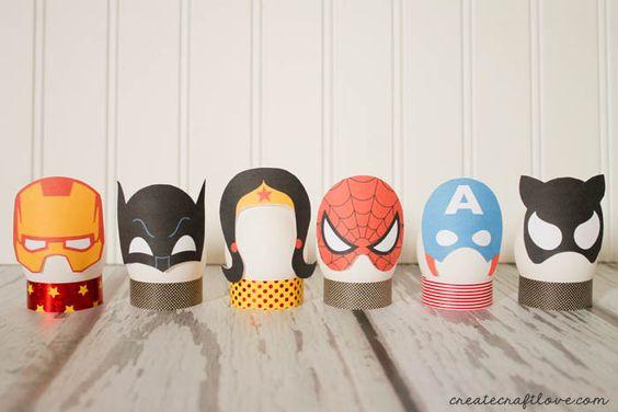 superhelden eieren pasen