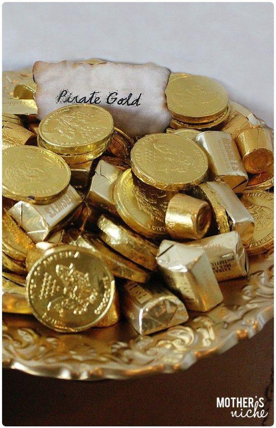 piraat goud chocola