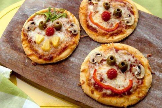 kinder pizza's met hoofdjes - kinderfeestjes - themakist