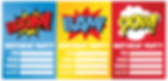 uitnodiging superhelden feest thema kinderfeestjes thuis - themakisten