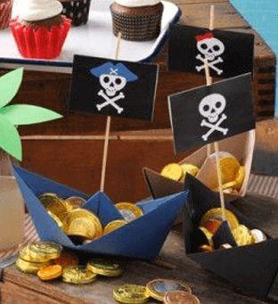 piraat goud chocolaa bootjes