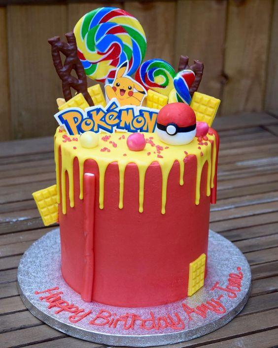 pokemon taart snoep pikachu verjaardag