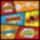 superhelden achtergrond - theme kinderfeestjes thuis - themakisten