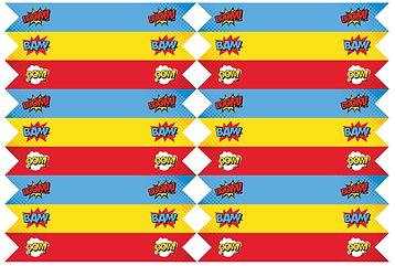 rietjes vlaggetje superhelden feest - theme kinderfeestjes thuis - themakisten