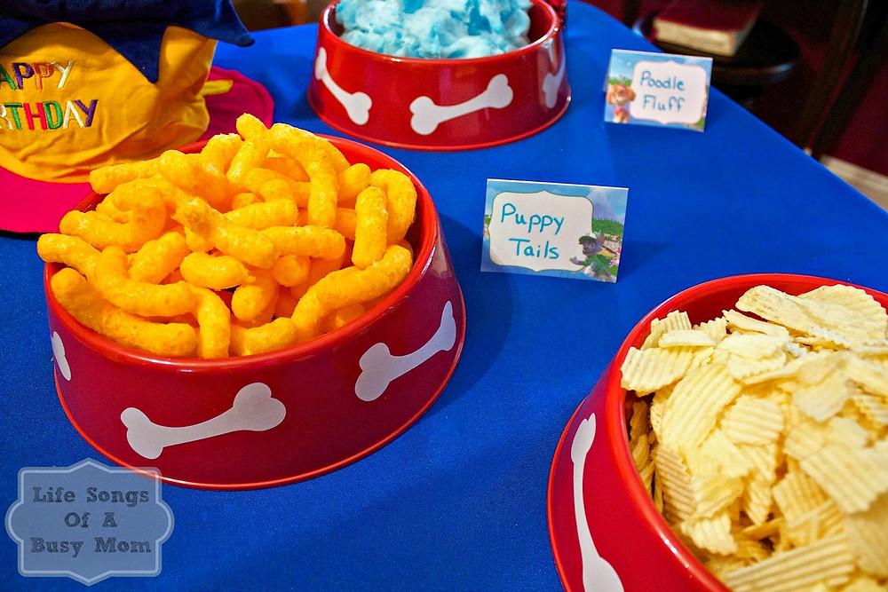 Paw patrol snacks voor op kinderfeestje