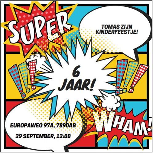 Top Superhelden uitnodiging #OX52