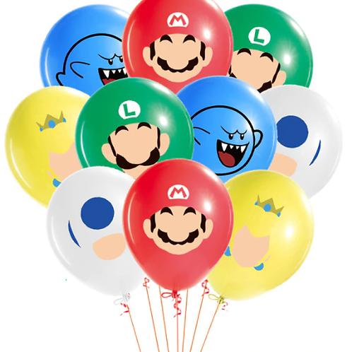 Super Mario balonnen 5st