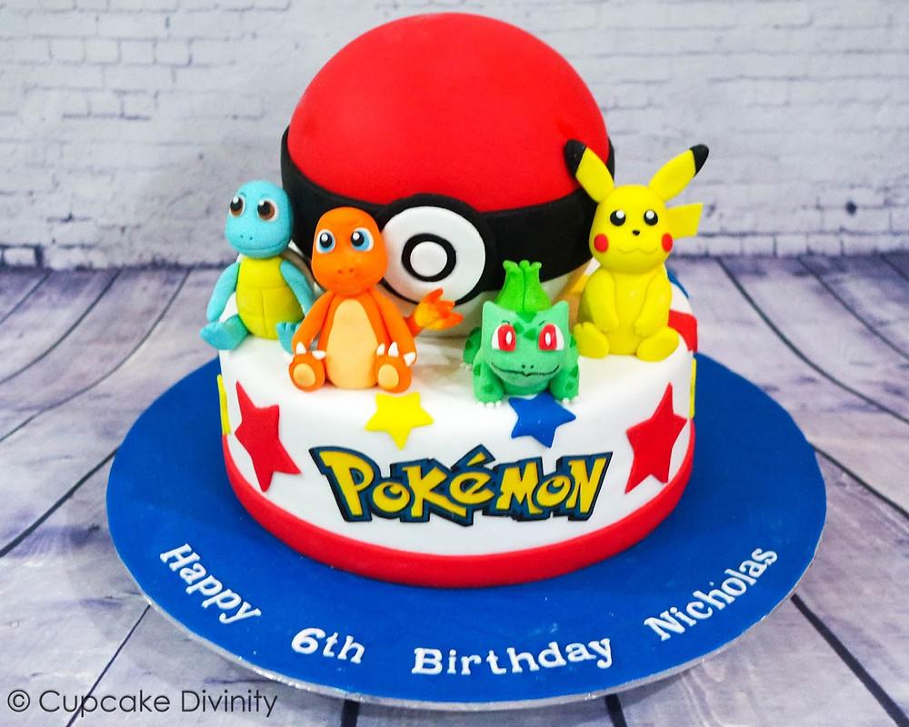 pokeball pokemon taart 6 jaar