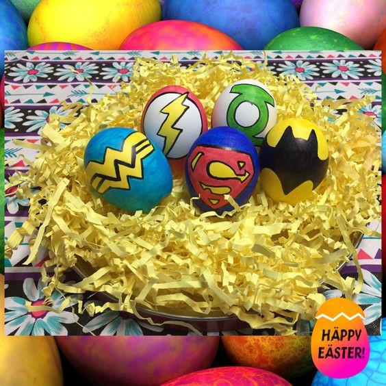 superhelden logo eieren pasen
