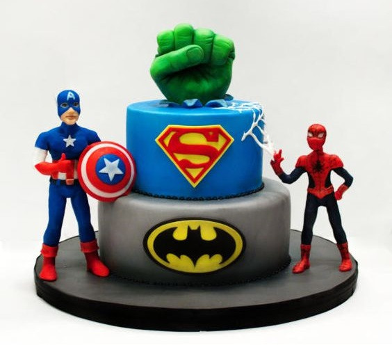Superhelden taart avengers themakist feestje