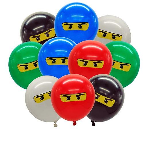 Ninjago ballonnen 5 st.