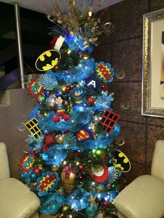 Superhero christmas tree