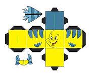 zeemeermin vis block - thema kinderfeestjes thuis themakist