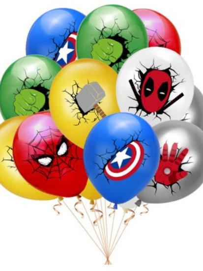Superhelden ballonnen 5 stuks