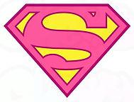 logo supergirl superhelden feest - theme kinderfeestjes thuis - themakisten