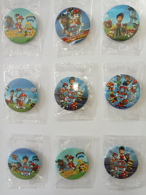Paw patrol buttons