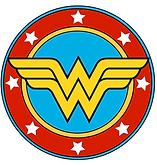 logo wonderwoman superhelden feest - theme kinderfeestjes thuis - themakisten