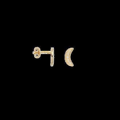 Single Nightfall Stud White Goldplated