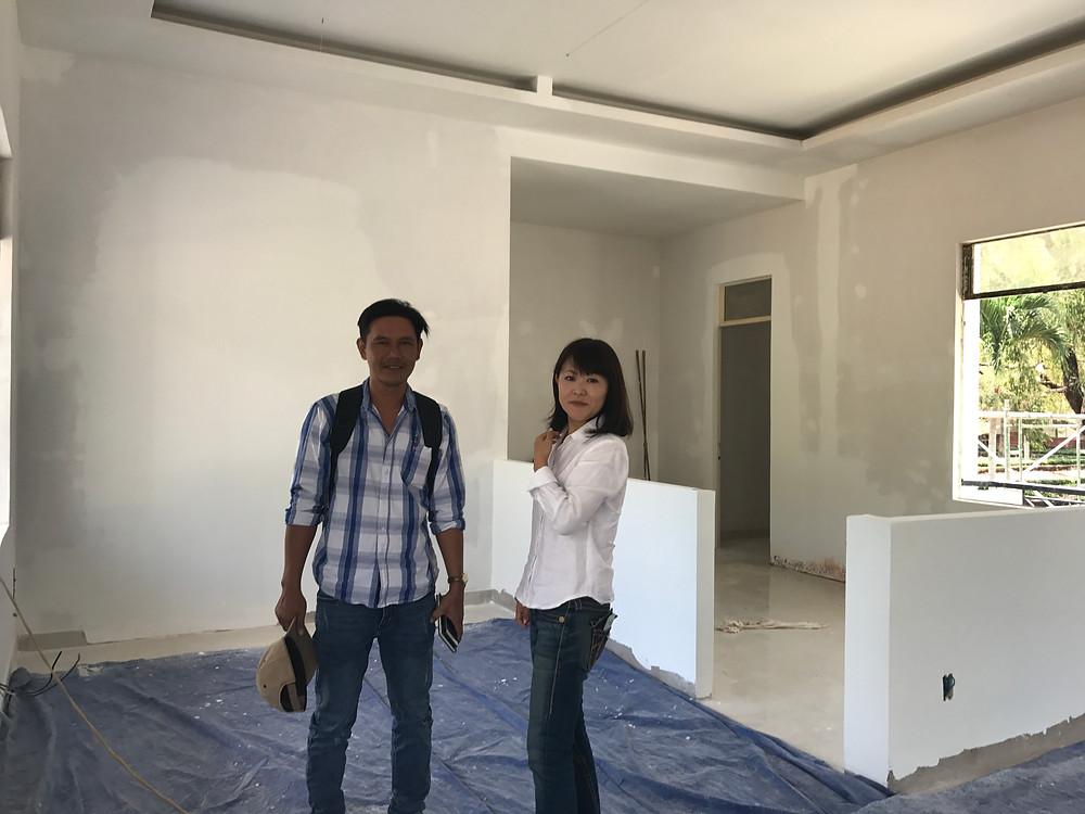 工房、熱が出るスペース仕切るための壁もできてた