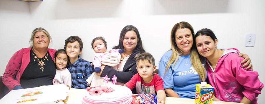 Família atendida pela Reparação 14