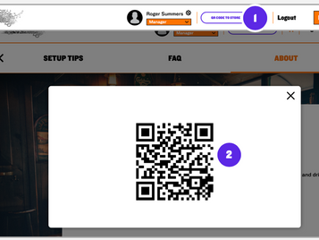 QR codes directly to your new simple menu?