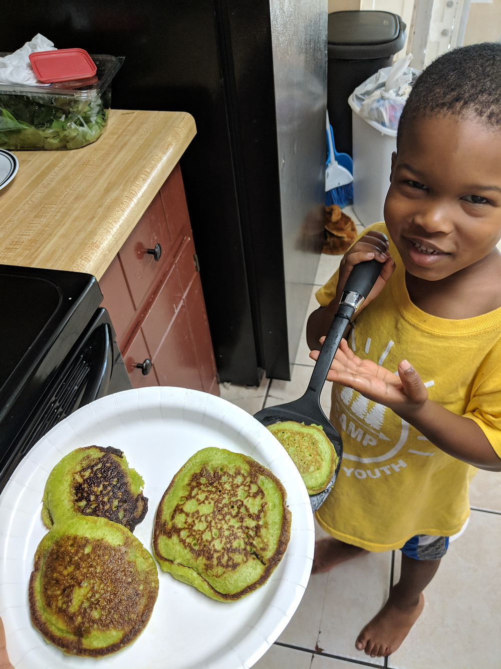 Spinach pancakes for kids