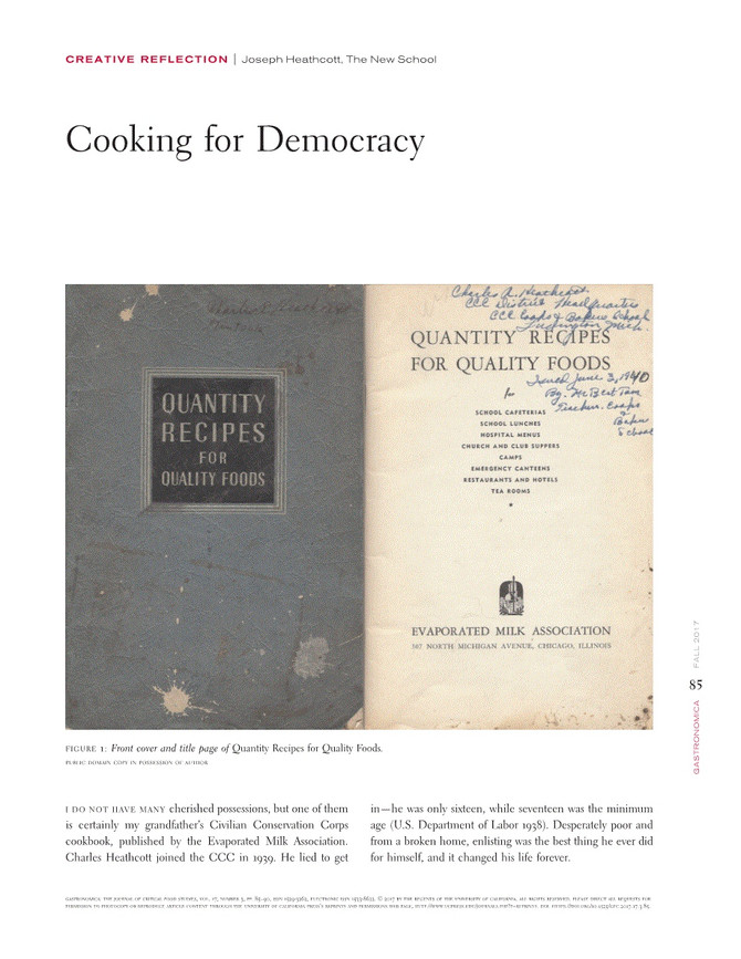 Cooking for Democracy