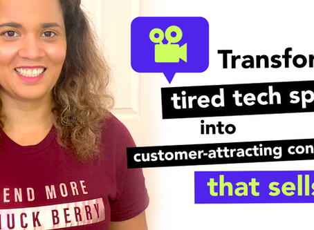 Transform those tired tech specs into customer-attracting content that sells!