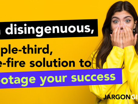 A disingenuous, people-third solution sure to sabotage your success
