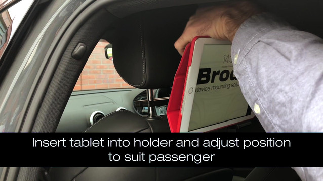 Installing a Brodit headrest mount into