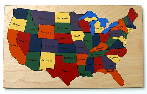Continental US Map Puzzle