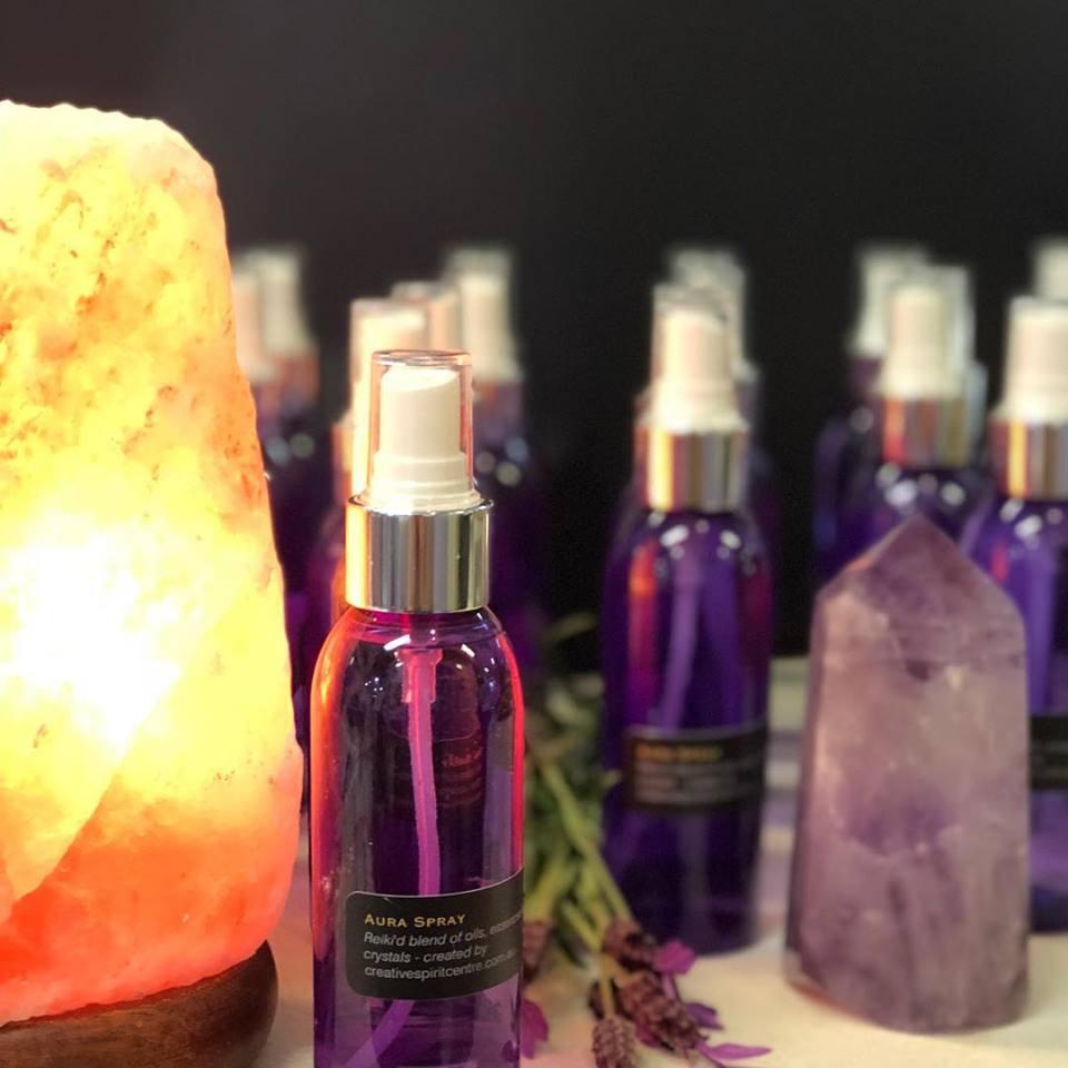 aura spray salt lamp