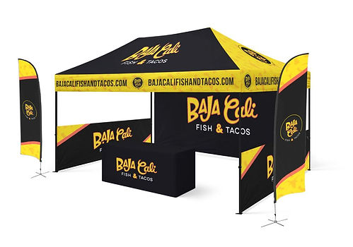 Baja Cali On-site Mexican Food catering canopy tent