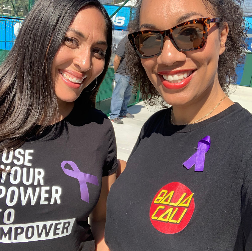 Baja Cali - Fundraising Community event with 2 members smiling