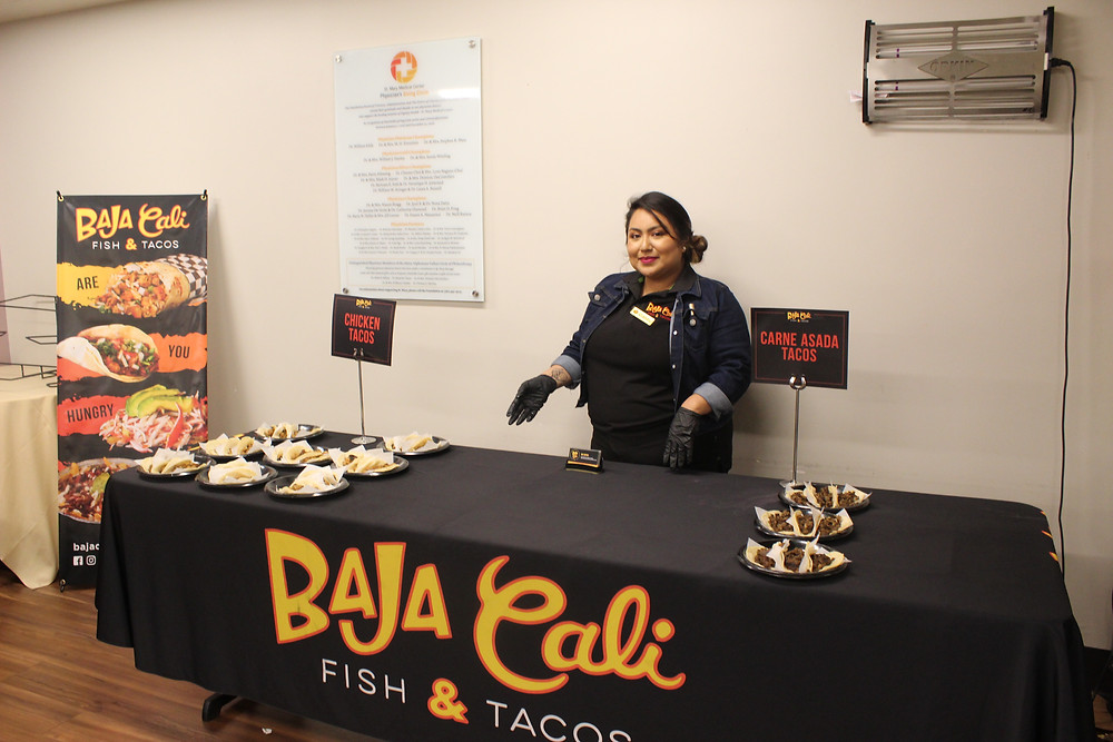 Baja Cali on-site Mexican food delivery and event catering for doctors and nurses at Long Beach