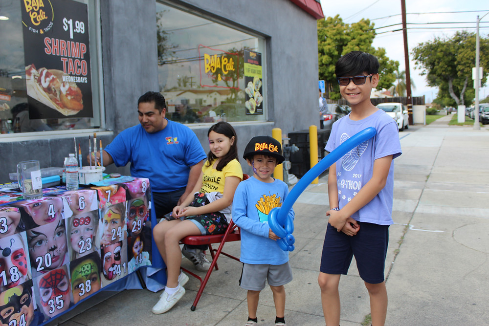 Second Anniversary celebration with kids, ballons and face painting and free Baja Cali prizes