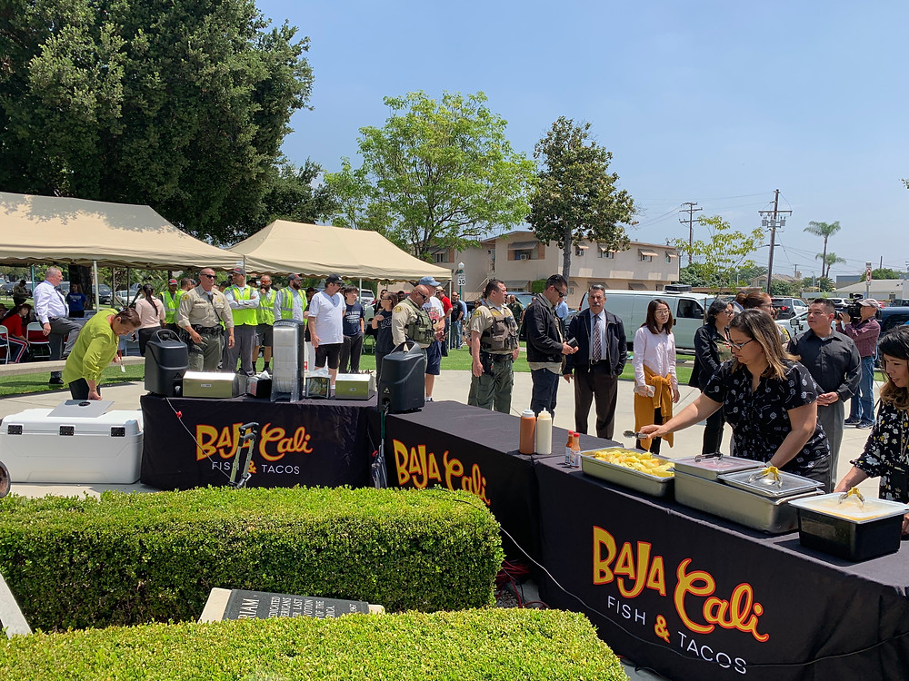 Baja Cali outdoor event catering for fundraiser Temple city Sherrif's station