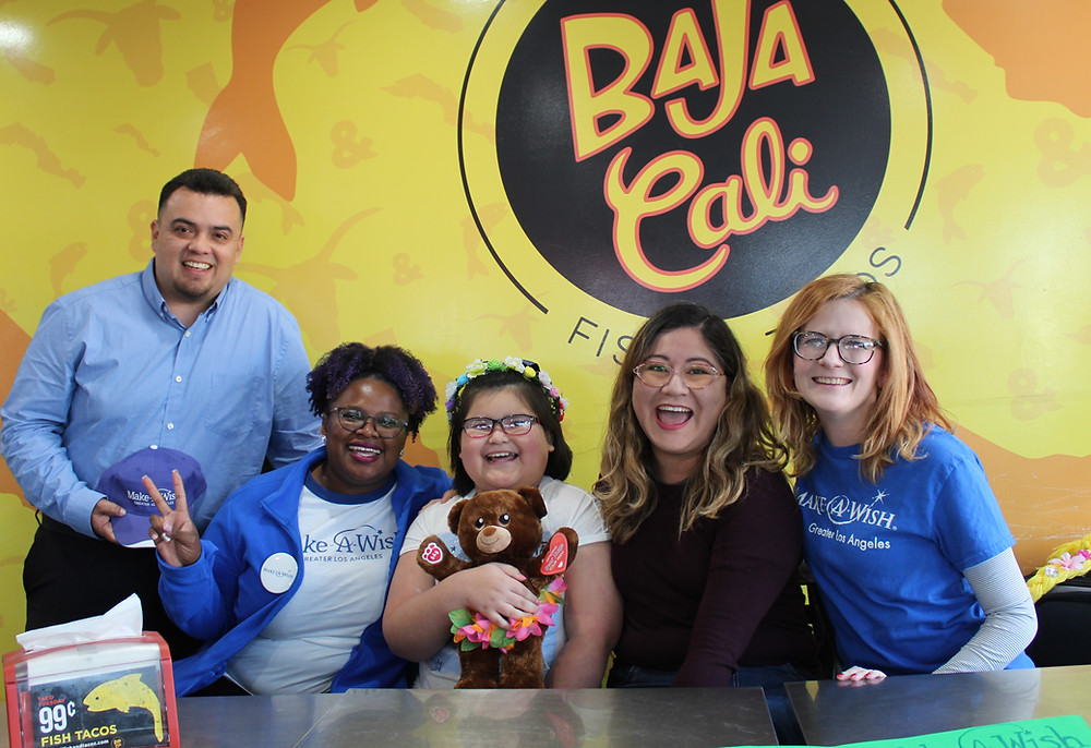 Baja Cali Make-A-Wish foundation surprise for Gloria favourite mexican food taco