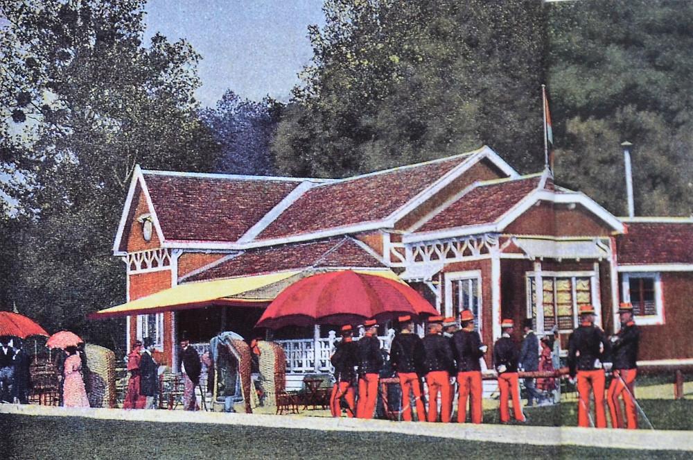 Le premier pavillon du polo de Bagatelle, à la fin du XIXème siècle